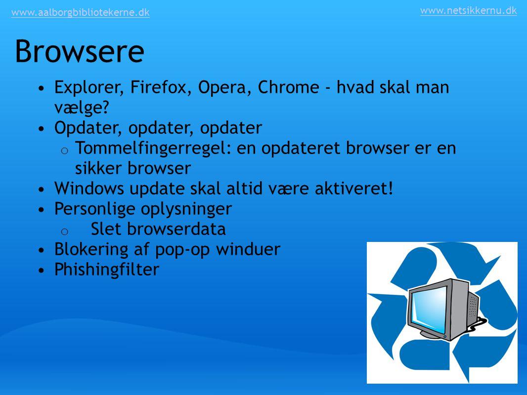 Browsere Explorer, Firefox, Opera, Chrome - hvad skal man vælge
