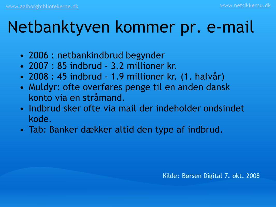 Netbanktyven kommer pr. e-mail
