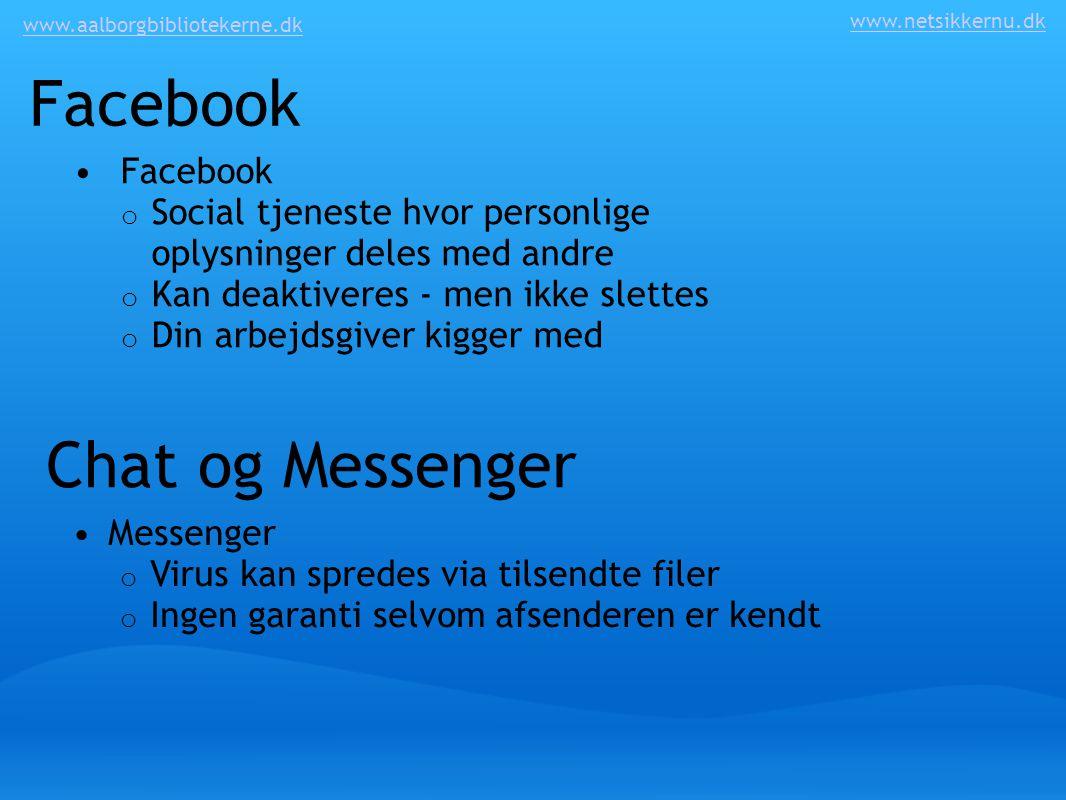 Facebook Chat og Messenger Facebook