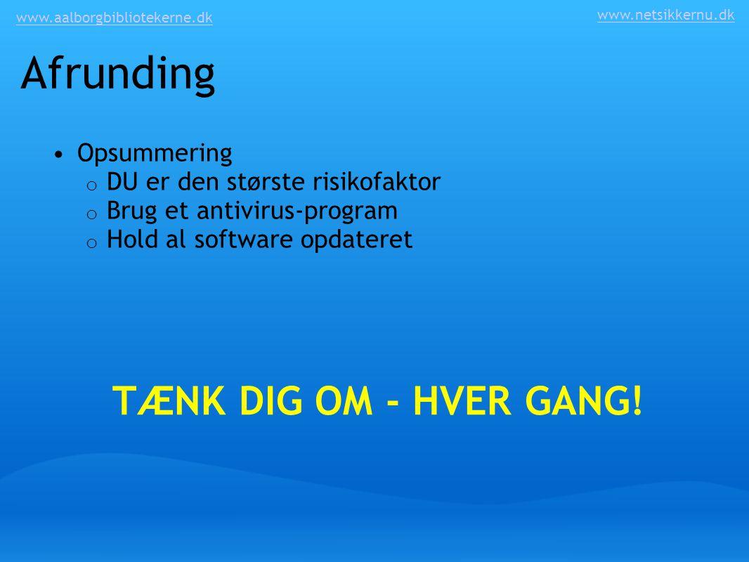 Afrunding TÆNK DIG OM - HVER GANG! Opsummering