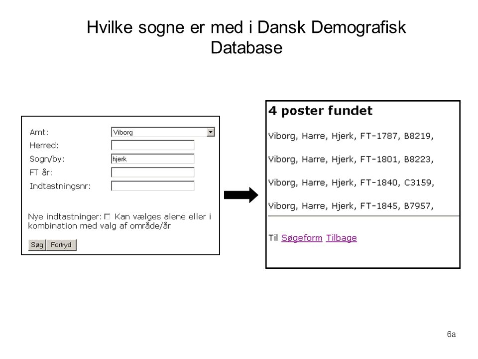 Hvilke sogne er med i Dansk Demografisk Database