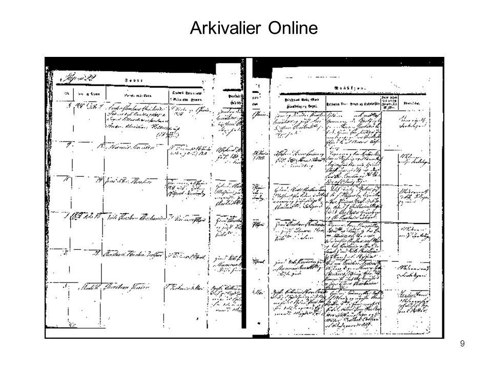 Arkivalier Online Visualisering nr. 9