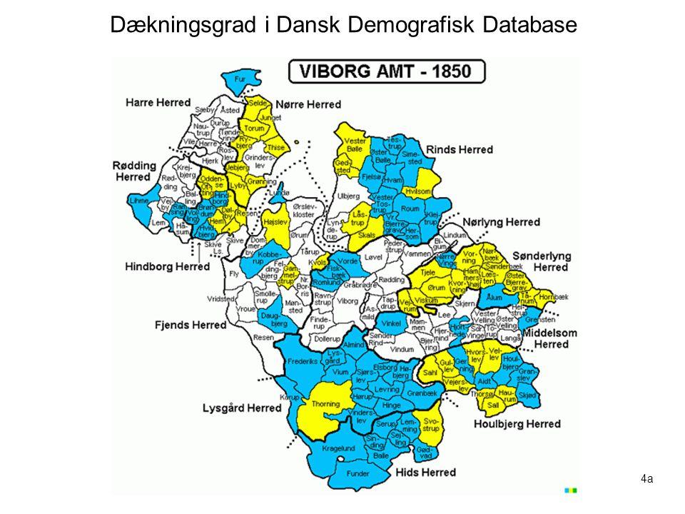 Dækningsgrad i Dansk Demografisk Database