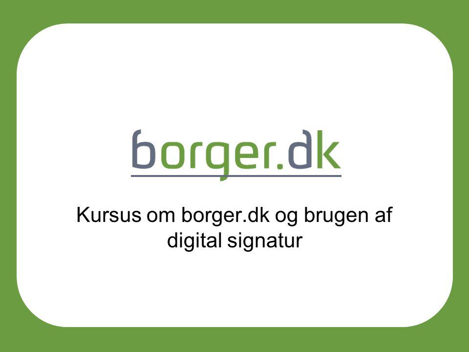 Kursus om borger.dk og brugen af digital signatur