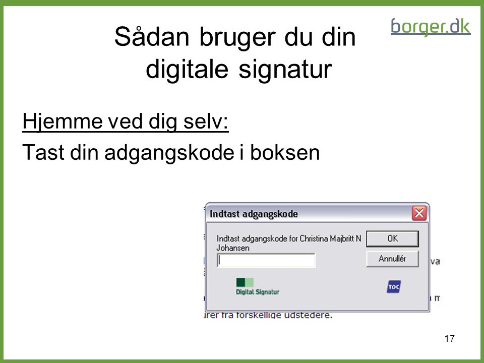 Sådan bruger du din digitale signatur