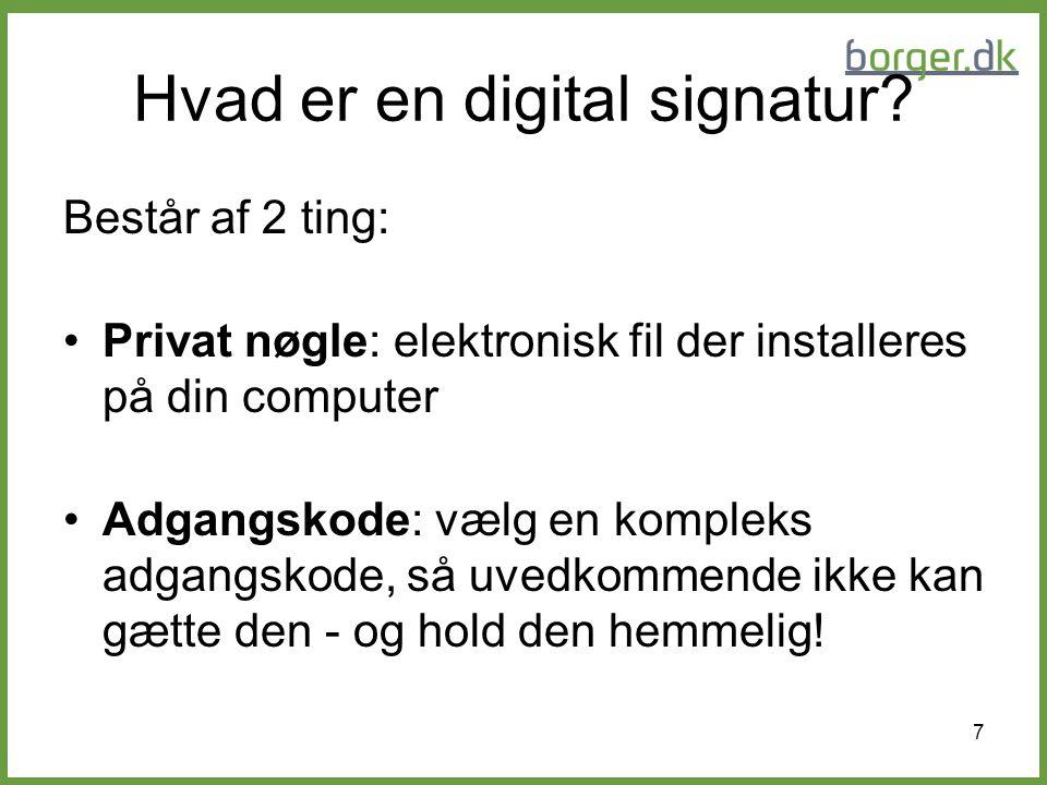 Hvad er en digital signatur