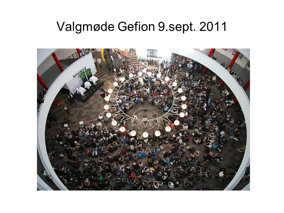 Valgmøde Gefion 9.sept. 2011