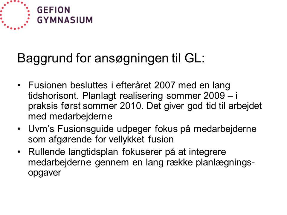 Baggrund for ansøgningen til GL: