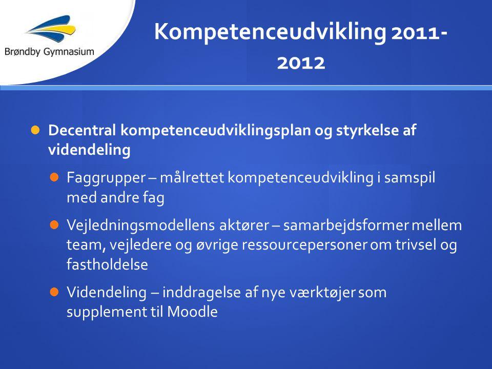 Kompetenceudvikling 2011-2012