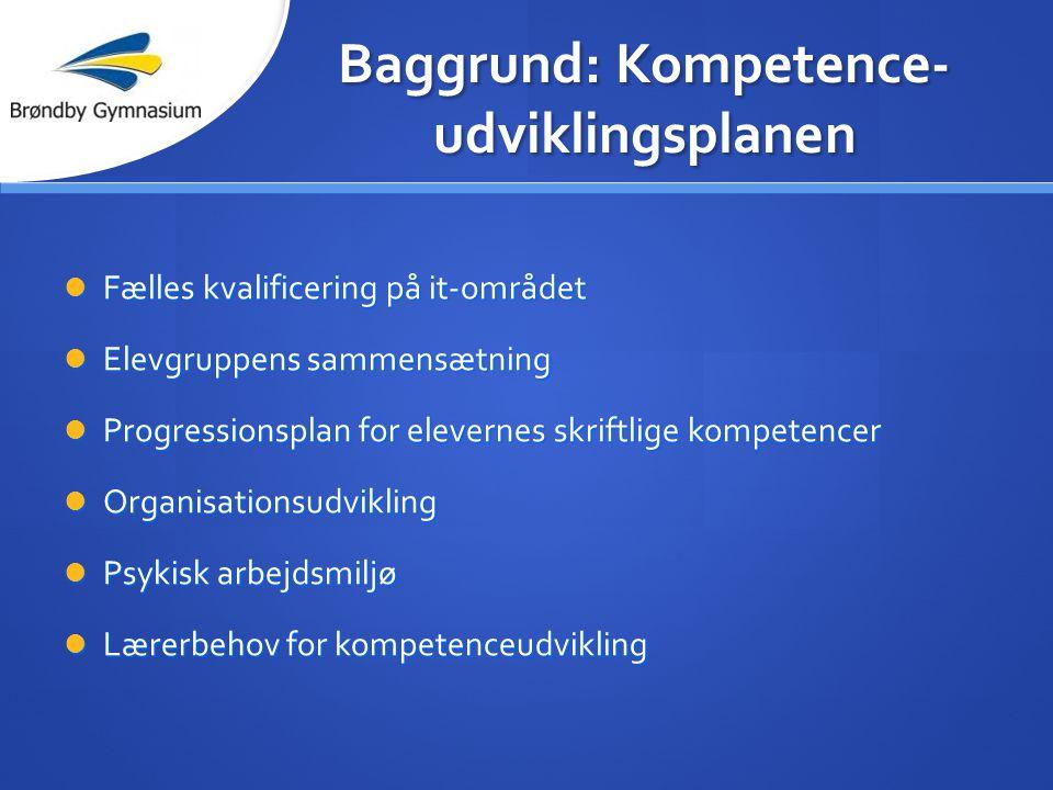 Baggrund: Kompetence-udviklingsplanen