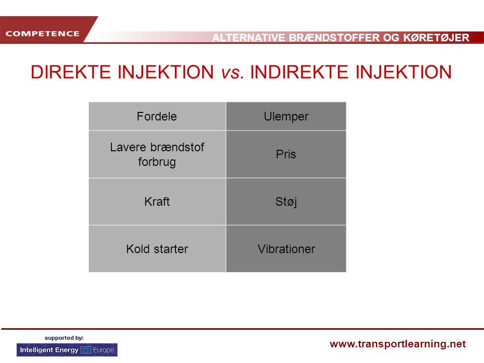 DIREKTE INJEKTION vs. INDIREKTE INJEKTION