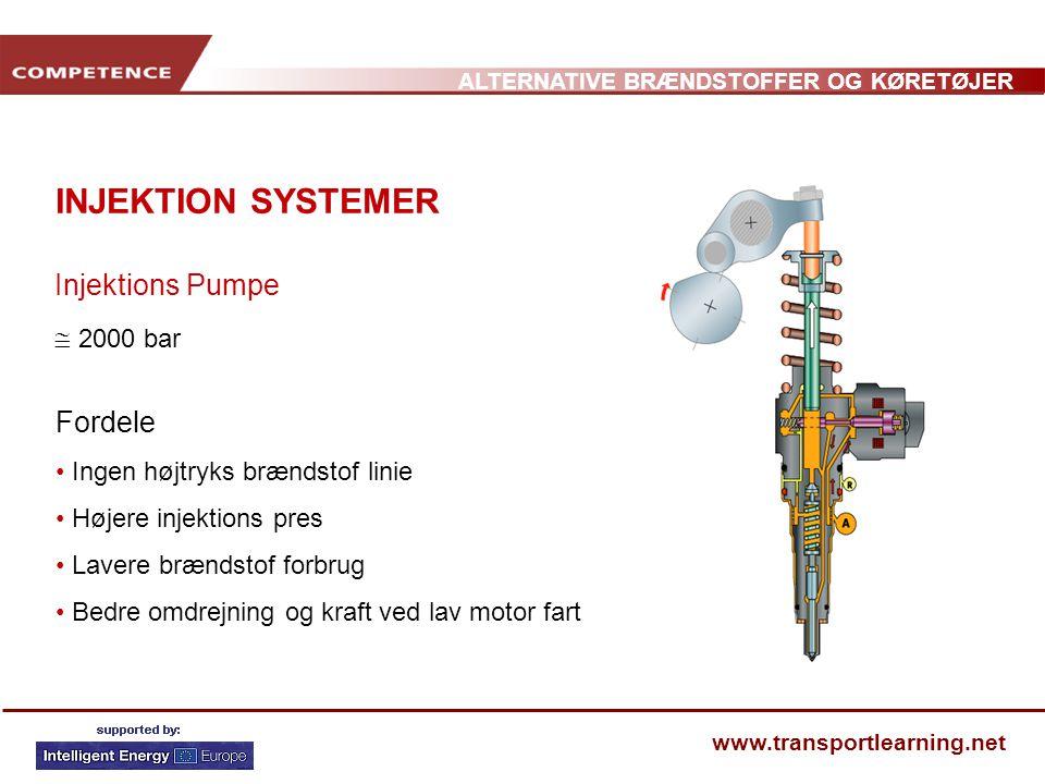 INJEKTION SYSTEMER Injektions Pumpe  2000 bar Fordele