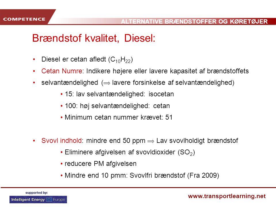 Brændstof kvalitet, Diesel:
