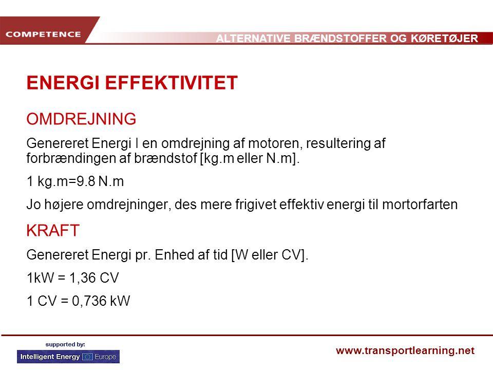 ENERGI EFFEKTIVITET OMDREJNING KRAFT