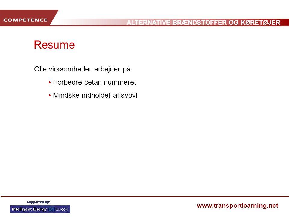 Resume Olie virksomheder arbejder på: Forbedre cetan nummeret