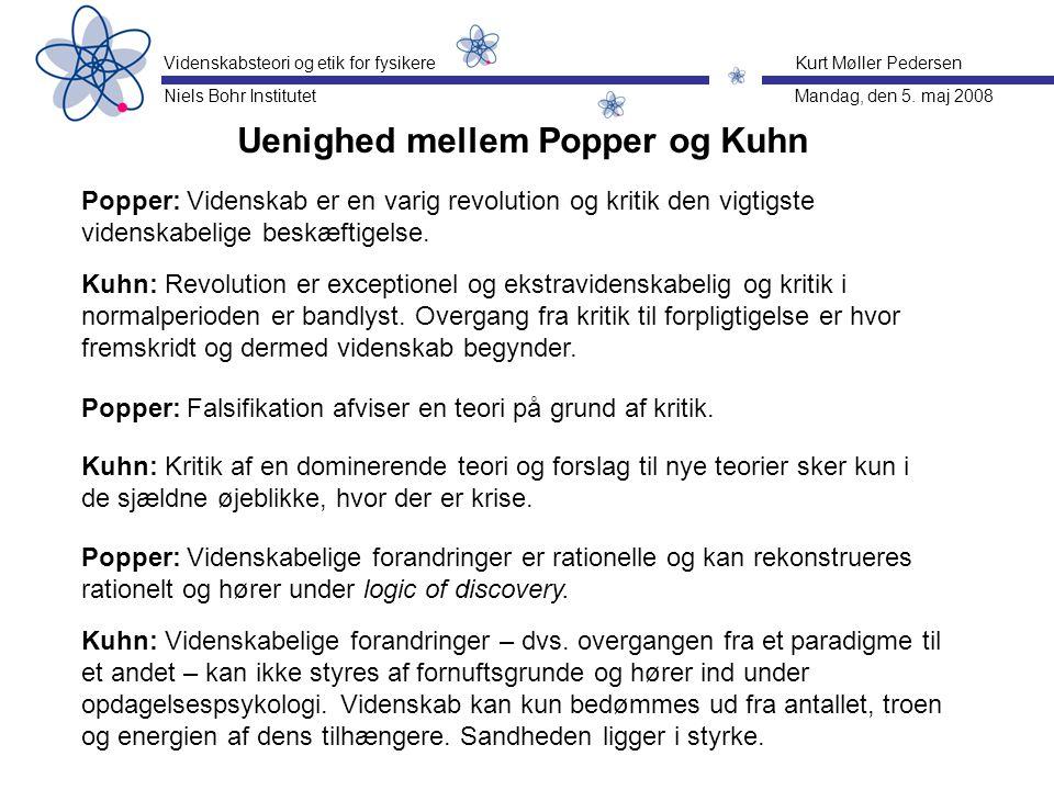 Uenighed mellem Popper og Kuhn