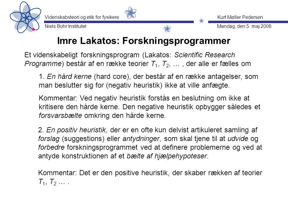 Imre Lakatos: Forskningsprogrammer