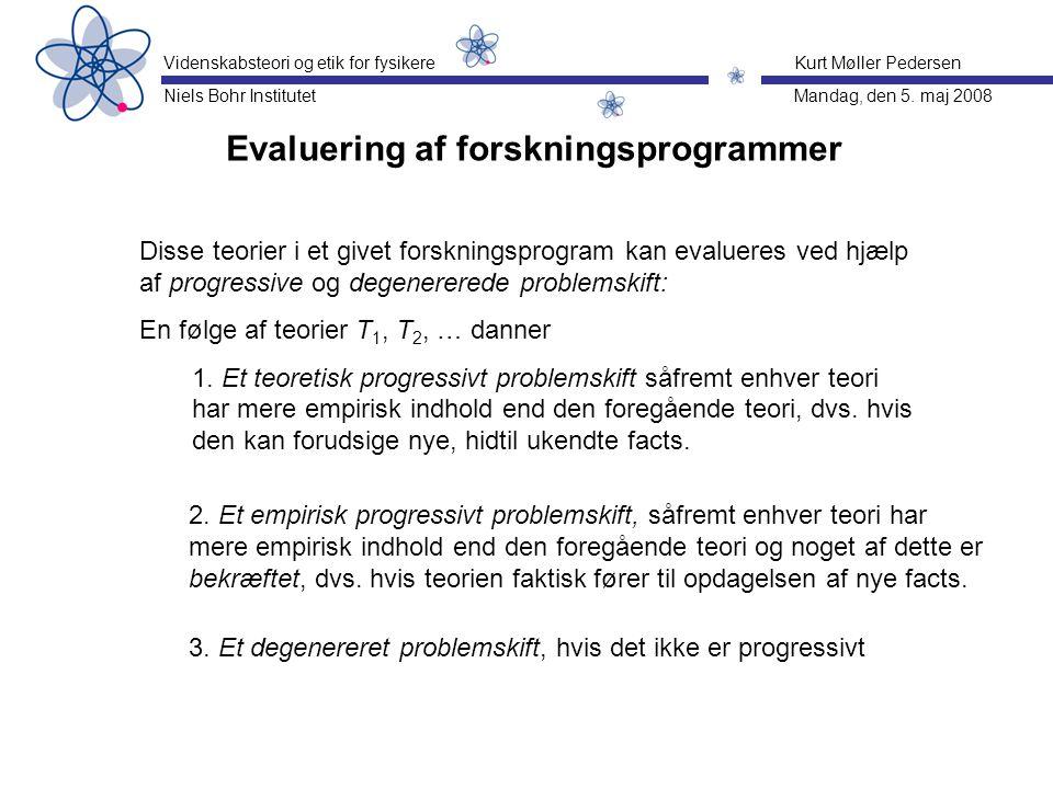 Evaluering af forskningsprogrammer