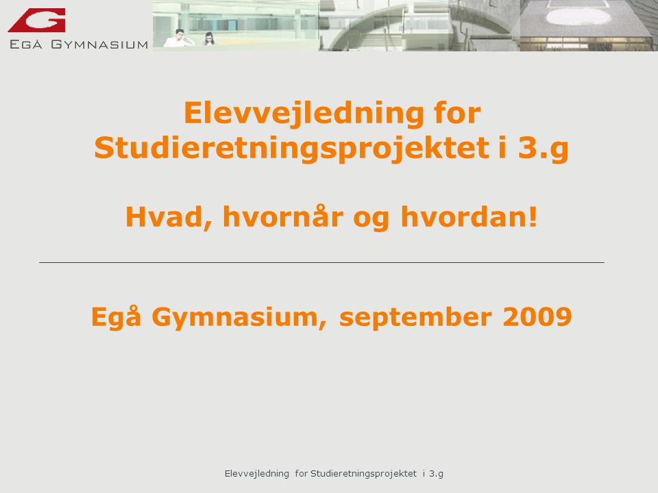 Elevvejledning for Studieretningsprojektet i 3.g