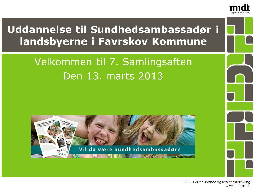 Uddannelse til Sundhedsambassadør i landsbyerne i Favrskov Kommune