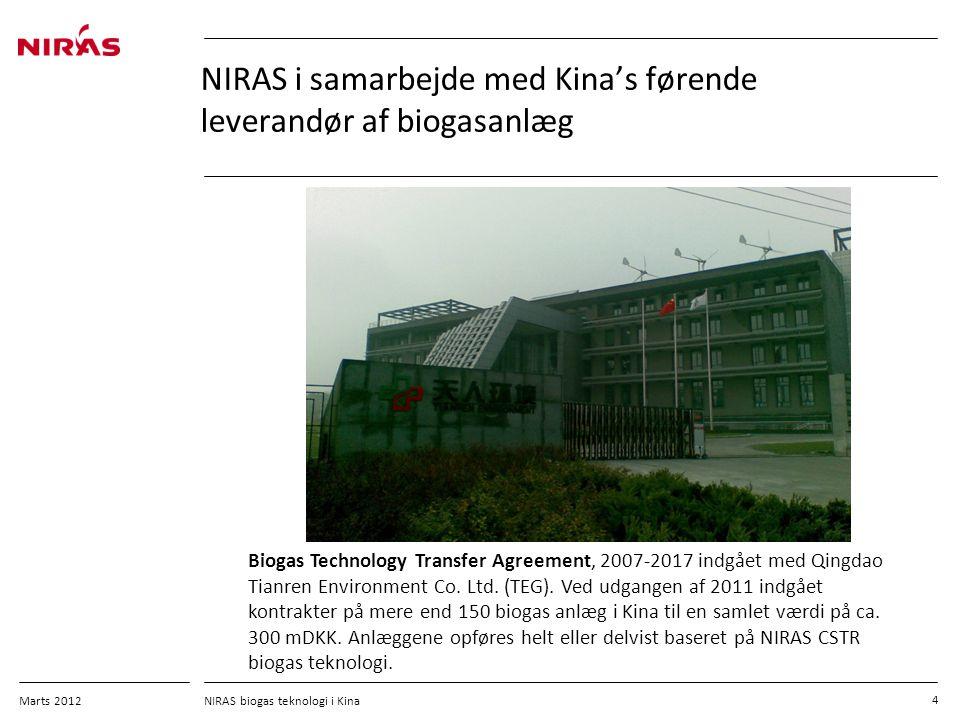 NIRAS i samarbejde med Kina's førende leverandør af biogasanlæg