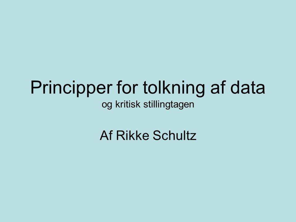 Principper for tolkning af data og kritisk stillingtagen
