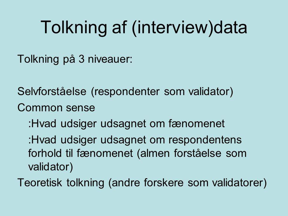 Tolkning af (interview)data
