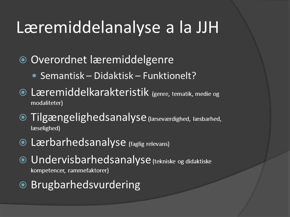 Læremiddelanalyse a la JJH
