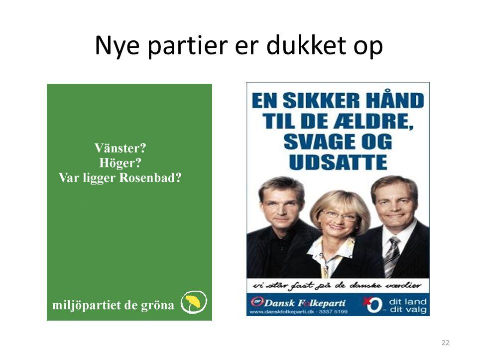 Nye partier er dukket op