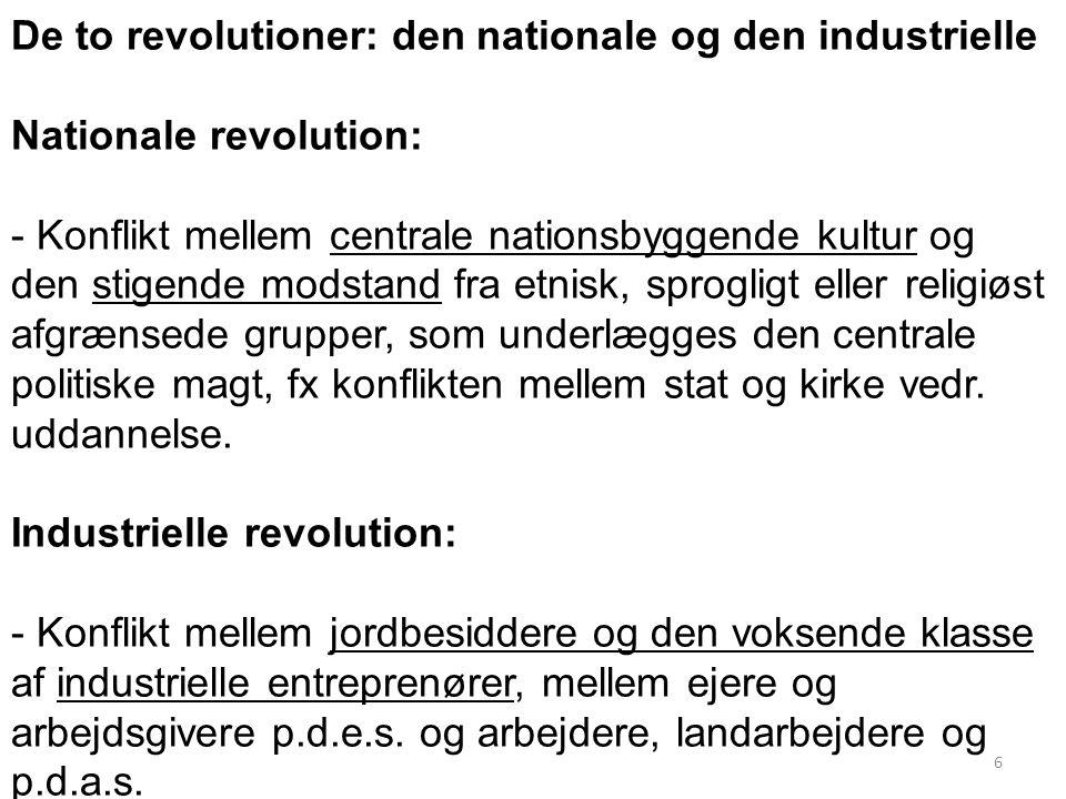 De to revolutioner: den nationale og den industrielle