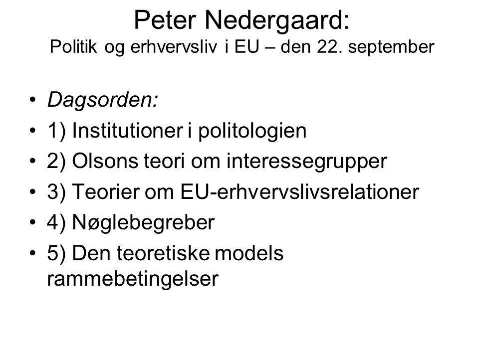 Peter Nedergaard: Politik og erhvervsliv i EU – den 22. september