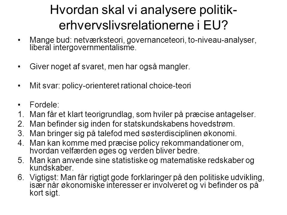 Hvordan skal vi analysere politik-erhvervslivsrelationerne i EU