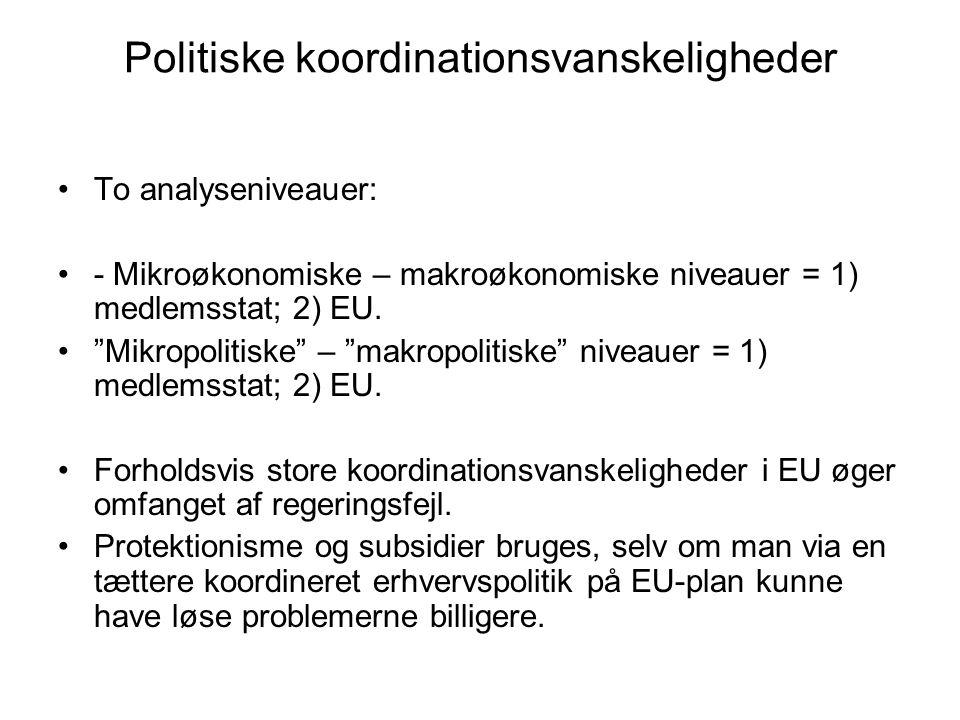 Politiske koordinationsvanskeligheder