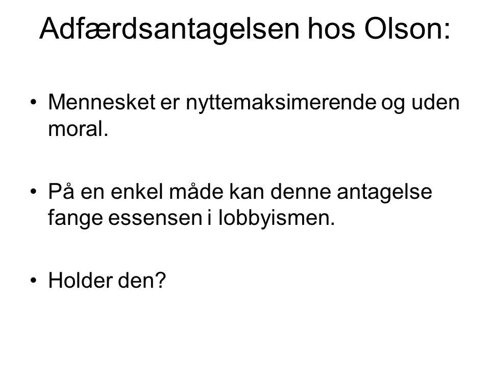 Adfærdsantagelsen hos Olson:
