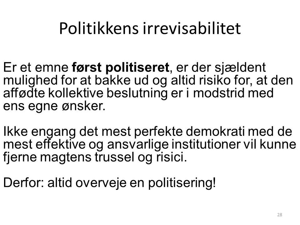 Politikkens irrevisabilitet