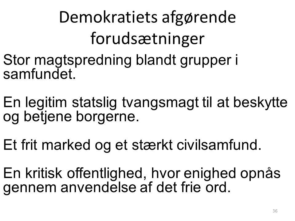Demokratiets afgørende forudsætninger