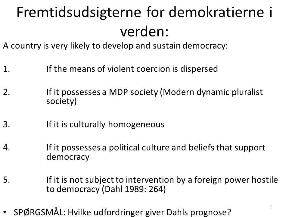Fremtidsudsigterne for demokratierne i verden: