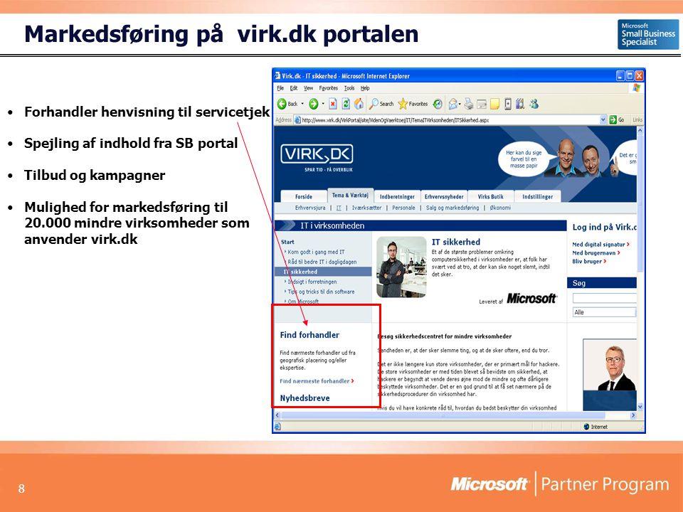 Markedsføring på virk.dk portalen