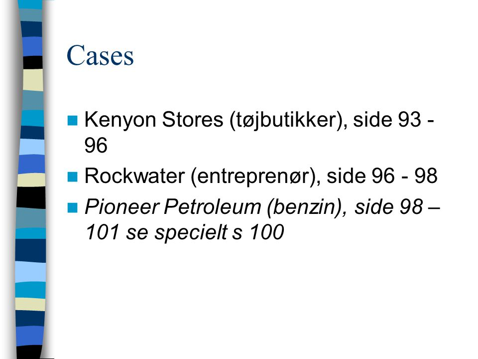Cases Kenyon Stores (tøjbutikker), side 93 - 96