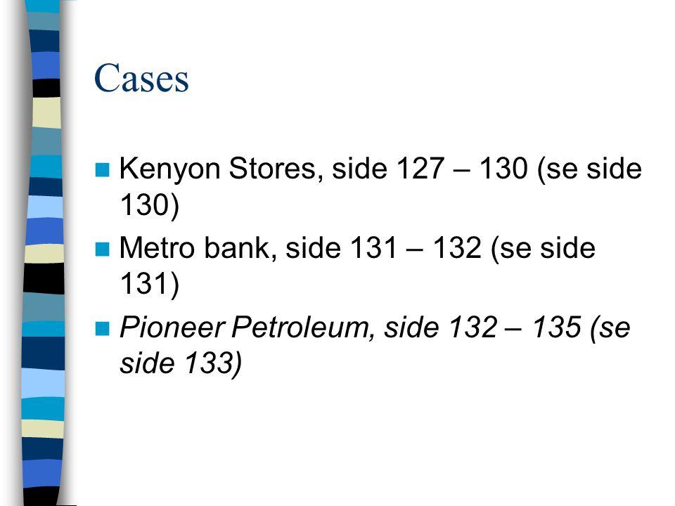Cases Kenyon Stores, side 127 – 130 (se side 130)