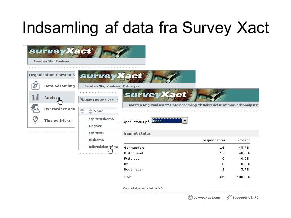 Indsamling af data fra Survey Xact