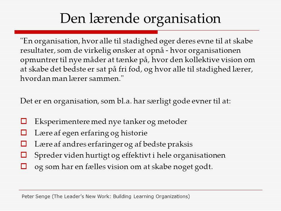 Den lærende organisation