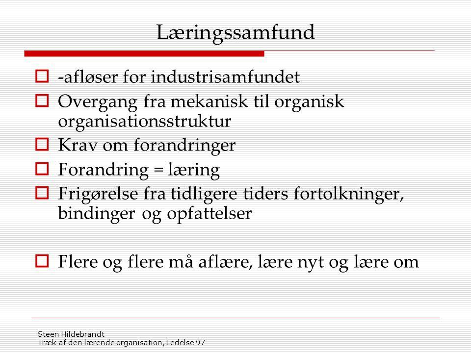 Læringssamfund -afløser for industrisamfundet