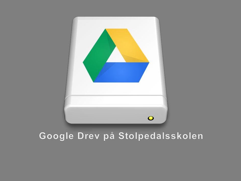 Google Drev på Stolpedalsskolen