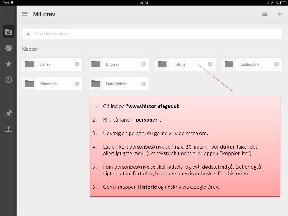 Gå ind på www.historiefaget.dk