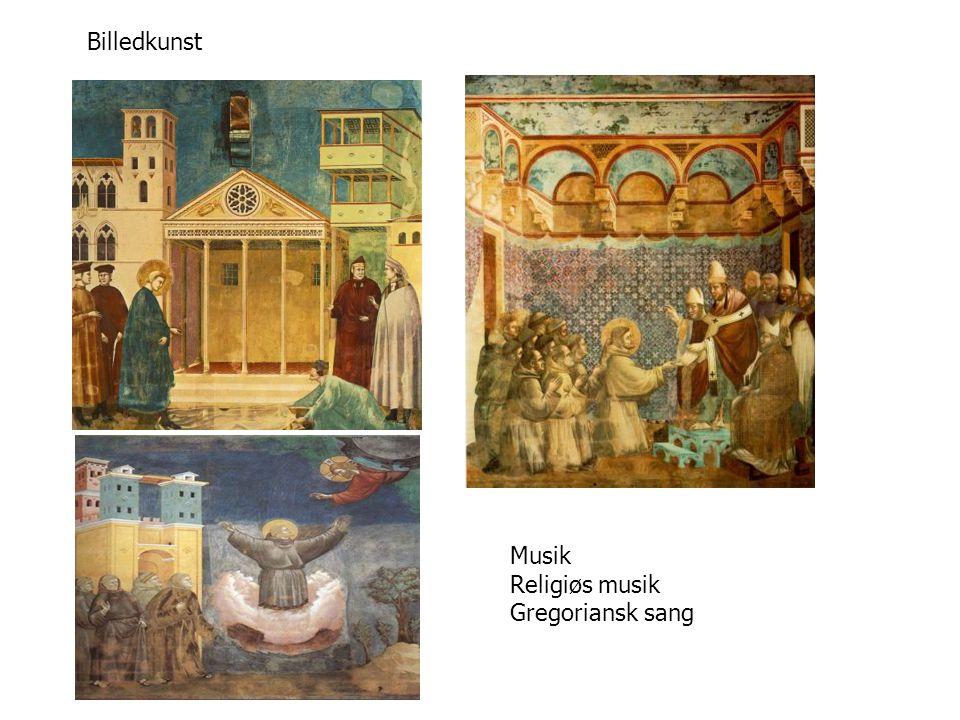 Billedkunst Musik Religiøs musik Gregoriansk sang