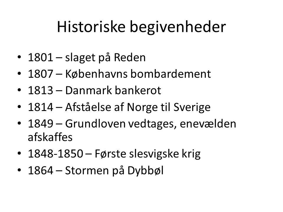 Historiske begivenheder