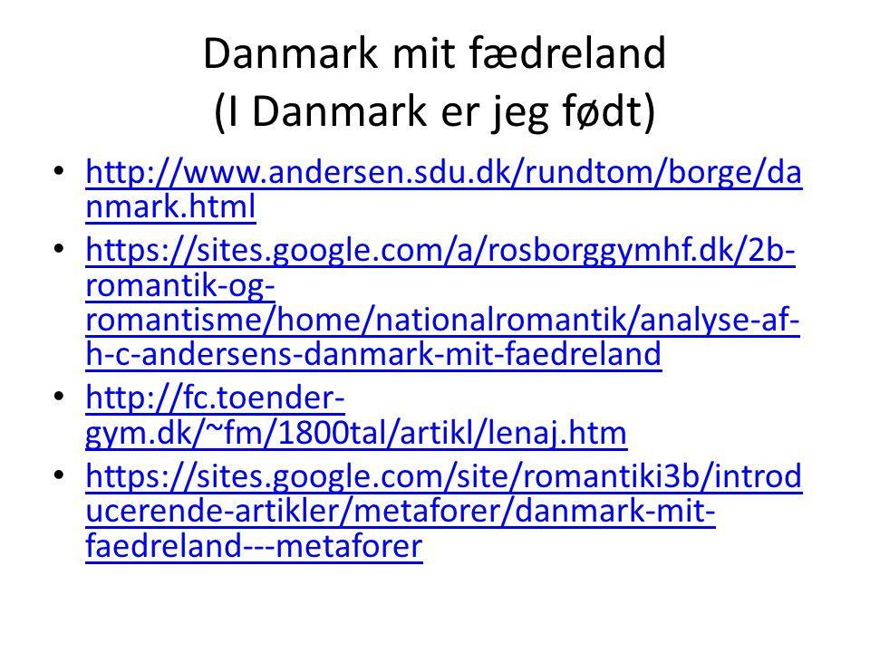 Danmark mit fædreland (I Danmark er jeg født)