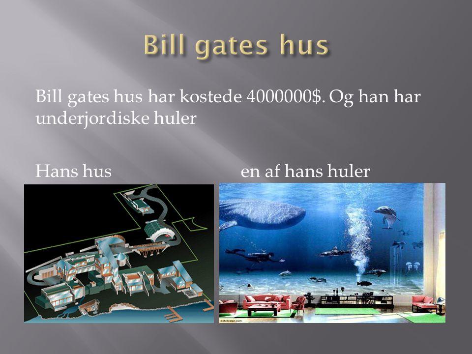 Bill gates hus Bill gates hus har kostede 4000000$.