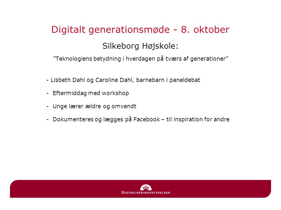 Digitalt generationsmøde - 8. oktober
